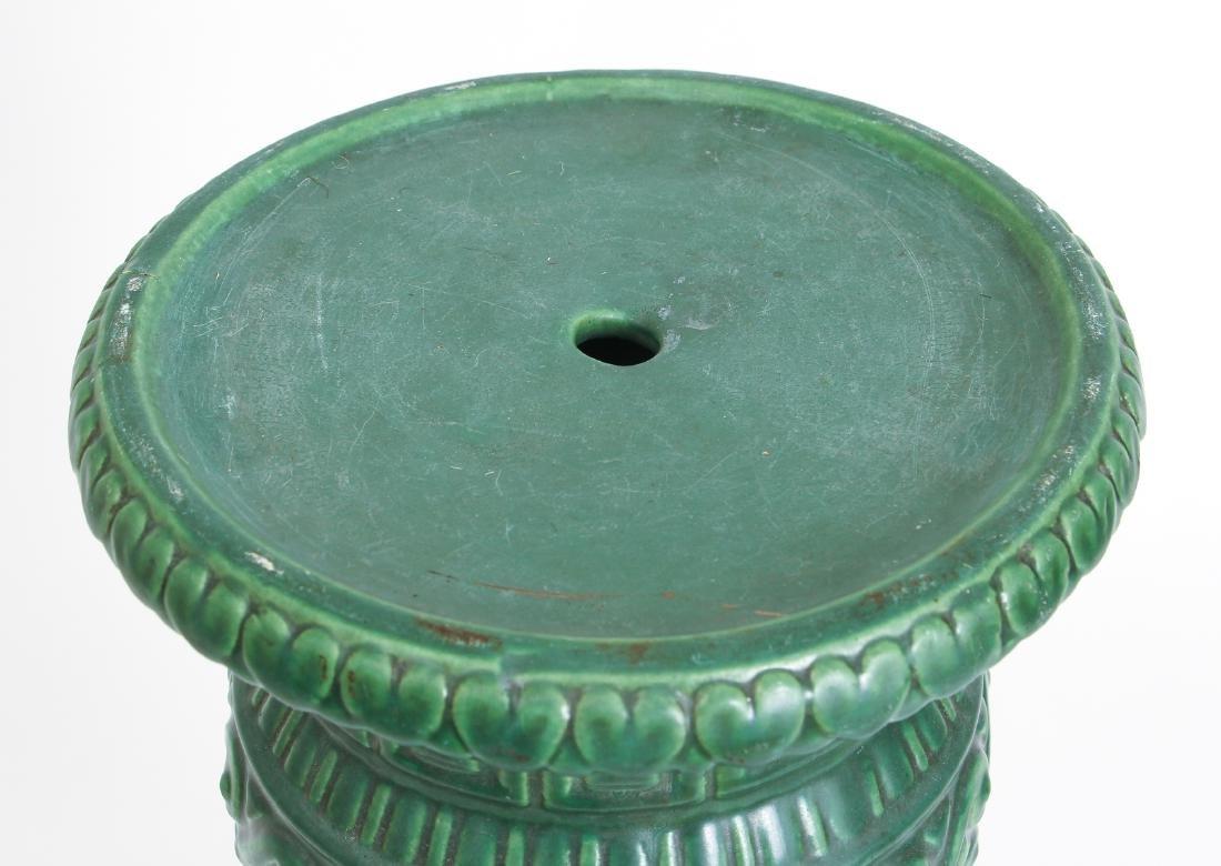Arts and Crafts Mat Green Glaze Pedestal - 3