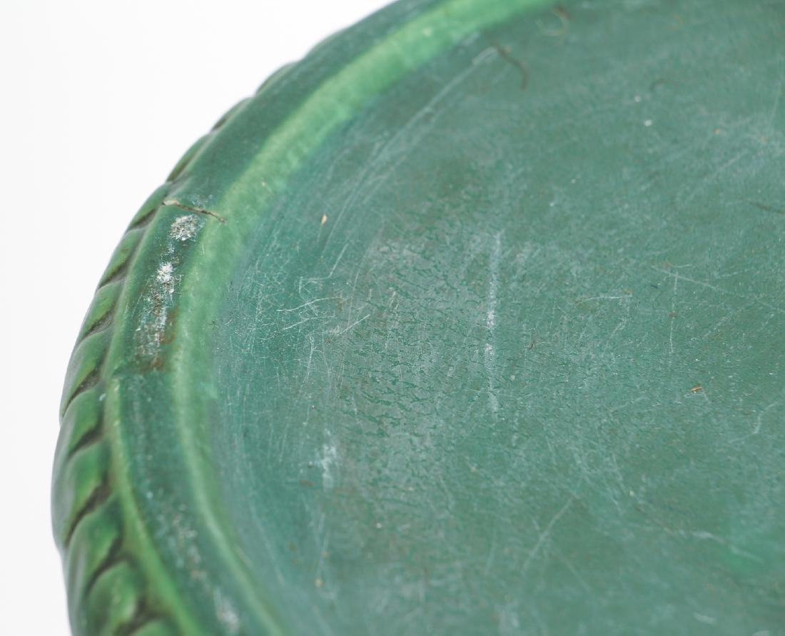 Arts and Crafts Mat Green Glaze Pedestal - 4