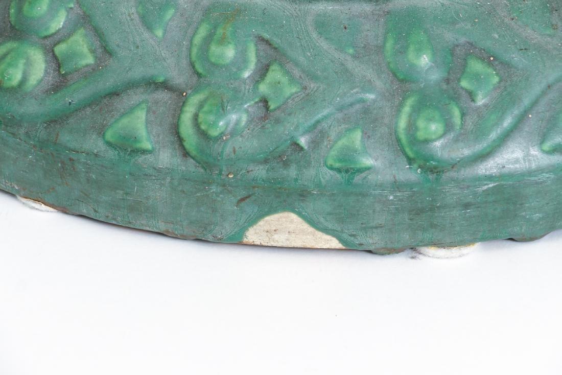 Arts and Crafts Mat Green Glaze Pedestal - 8