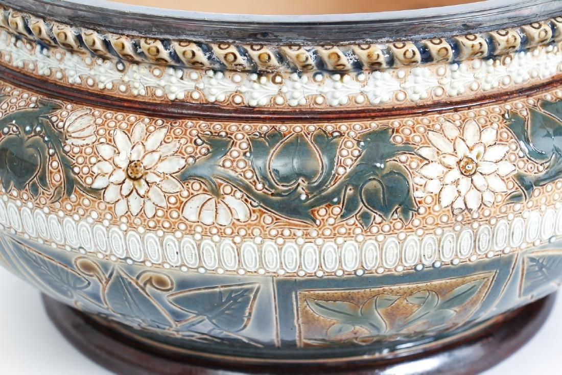 Doulton Lambeth Jardinière Bowl, 1878 - 5