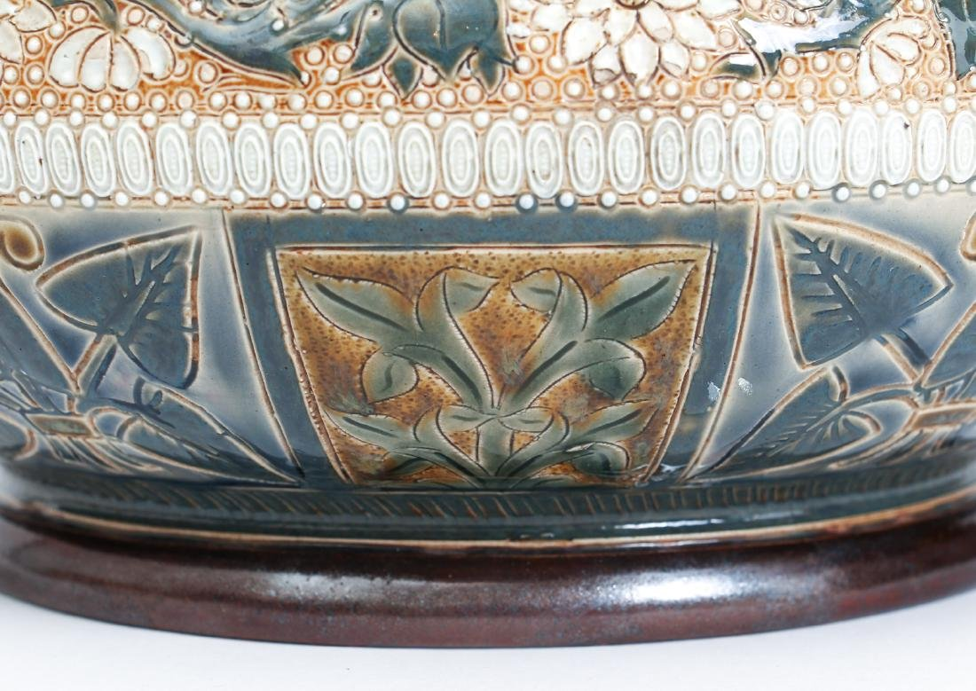 Doulton Lambeth Jardinière Bowl, 1878 - 6