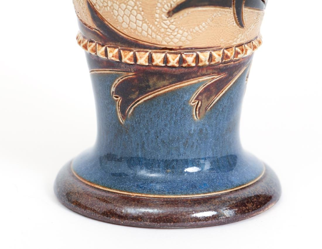 Doulton Lambeth Tapestry Vase with Corn Design - 6