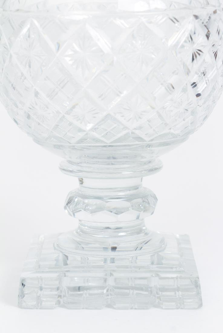 Early Cut Glass Lidded and Footed Urn - 5