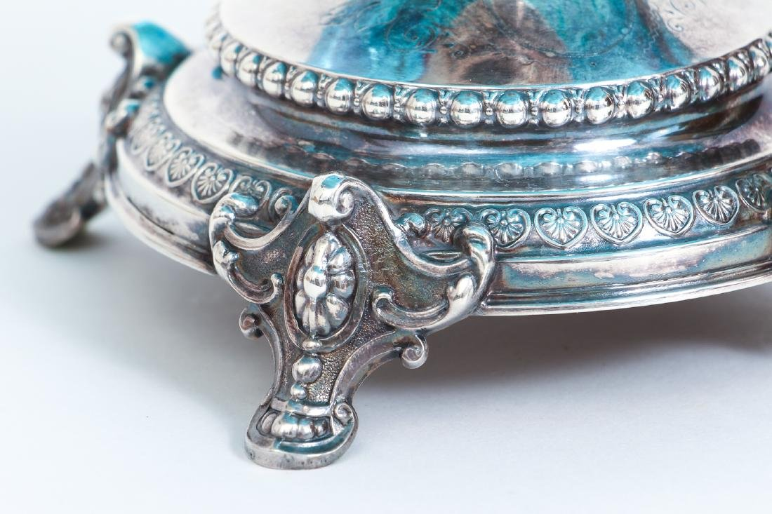 Elaborate Art Nouveau Silver and Enameled Glass Compote - 10