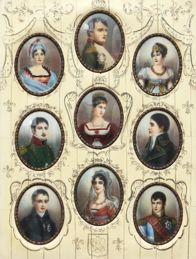 Portrait Miniatures of Napoleon and His Family