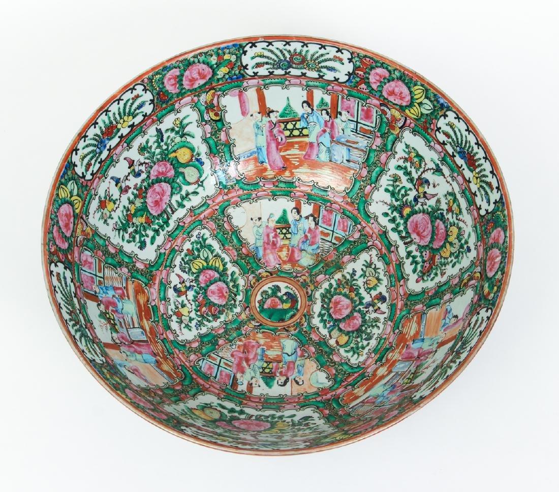 Large Famille Rose Punch Bowl - 2