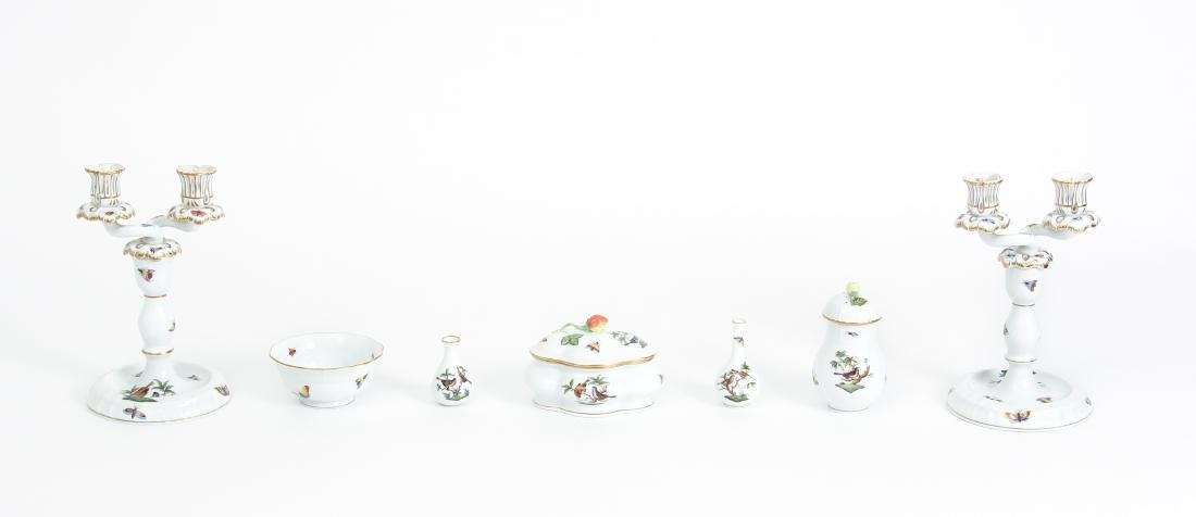 Seven Miscellaneous Herend Rothschild Pieces