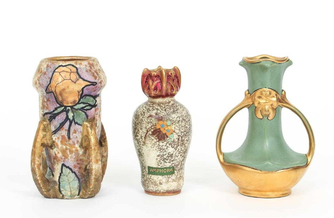Three Amphora Vases
