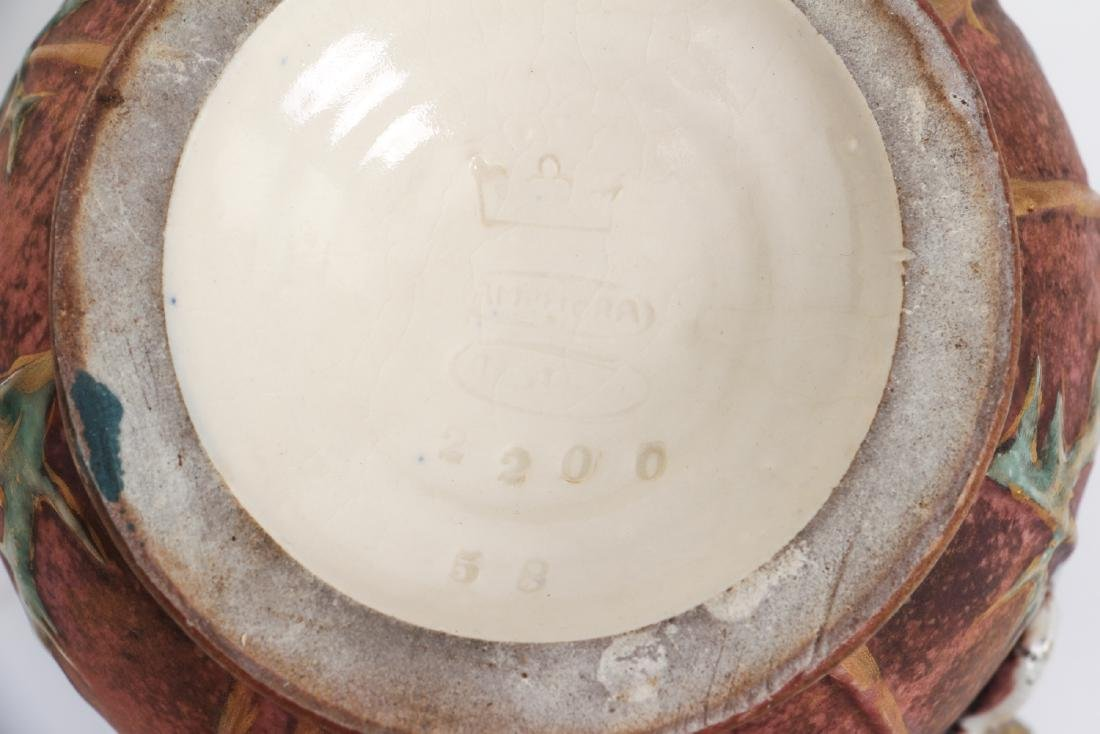 Three Amphora Thistle Themed Pottery Pieces - 4
