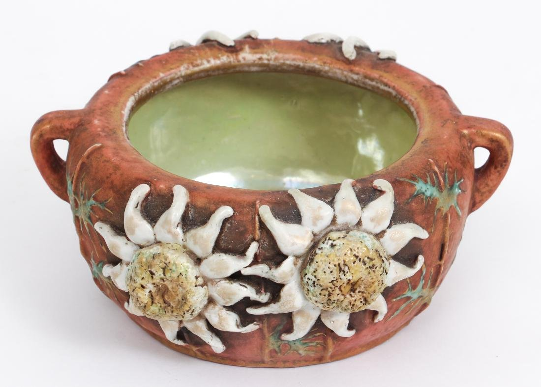 Three Amphora Thistle Themed Pottery Pieces - 6