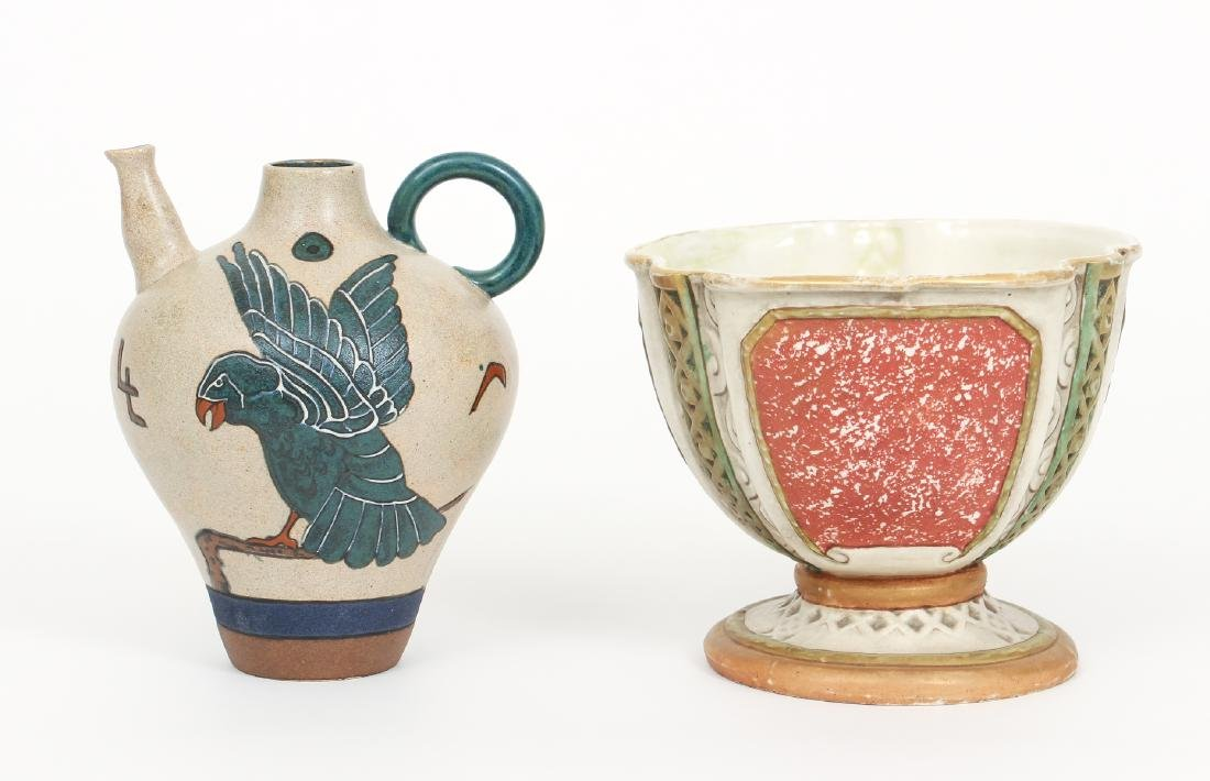Two Amphora Pottery Pieces