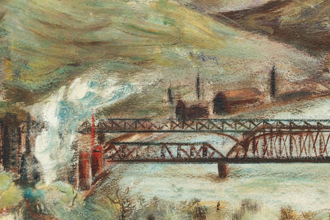 Industrial Themed Pittsburgh Steel Mill Landscape - 4
