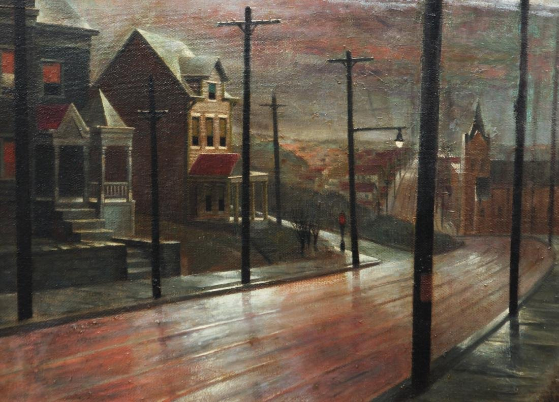 William Libby 1940's ptg. Western Pa. Urban Landscape