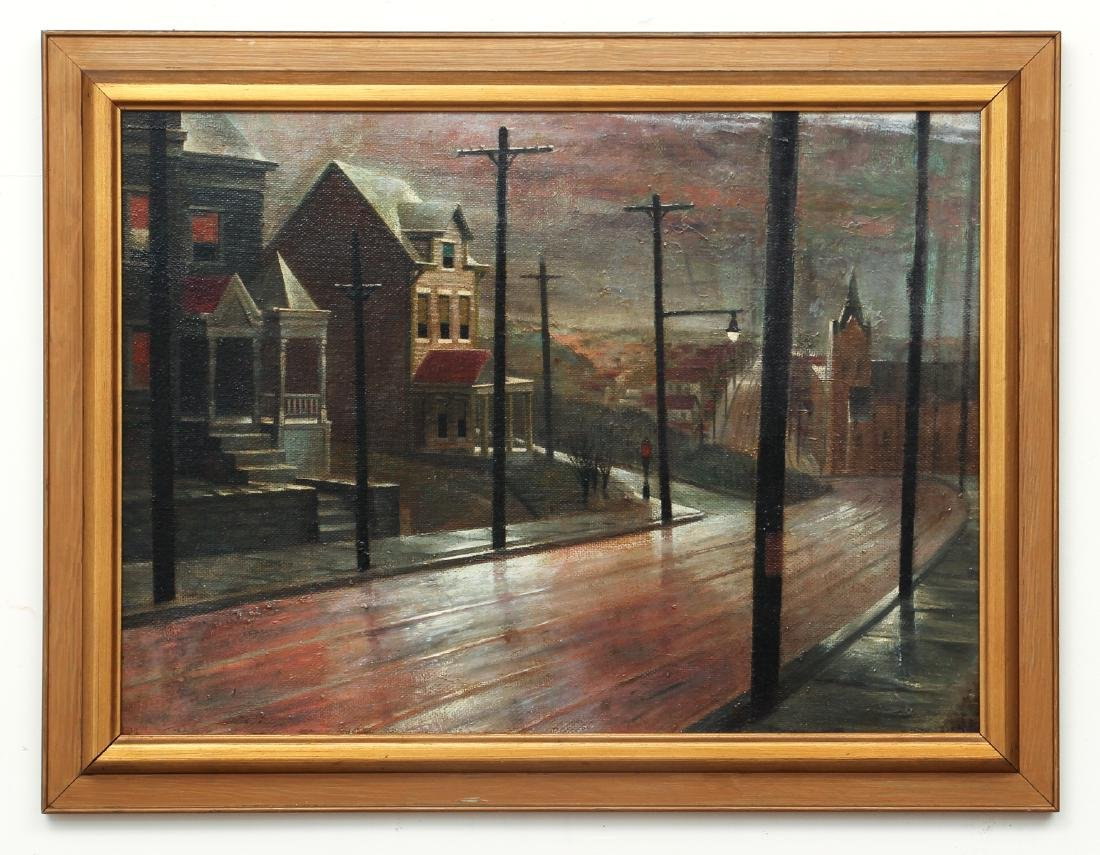 William Libby 1940's ptg. Western Pa. Urban Landscape - 2