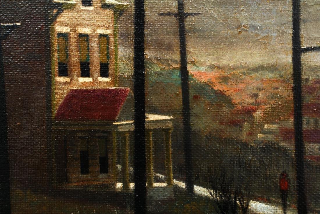 William Libby 1940's ptg. Western Pa. Urban Landscape - 4