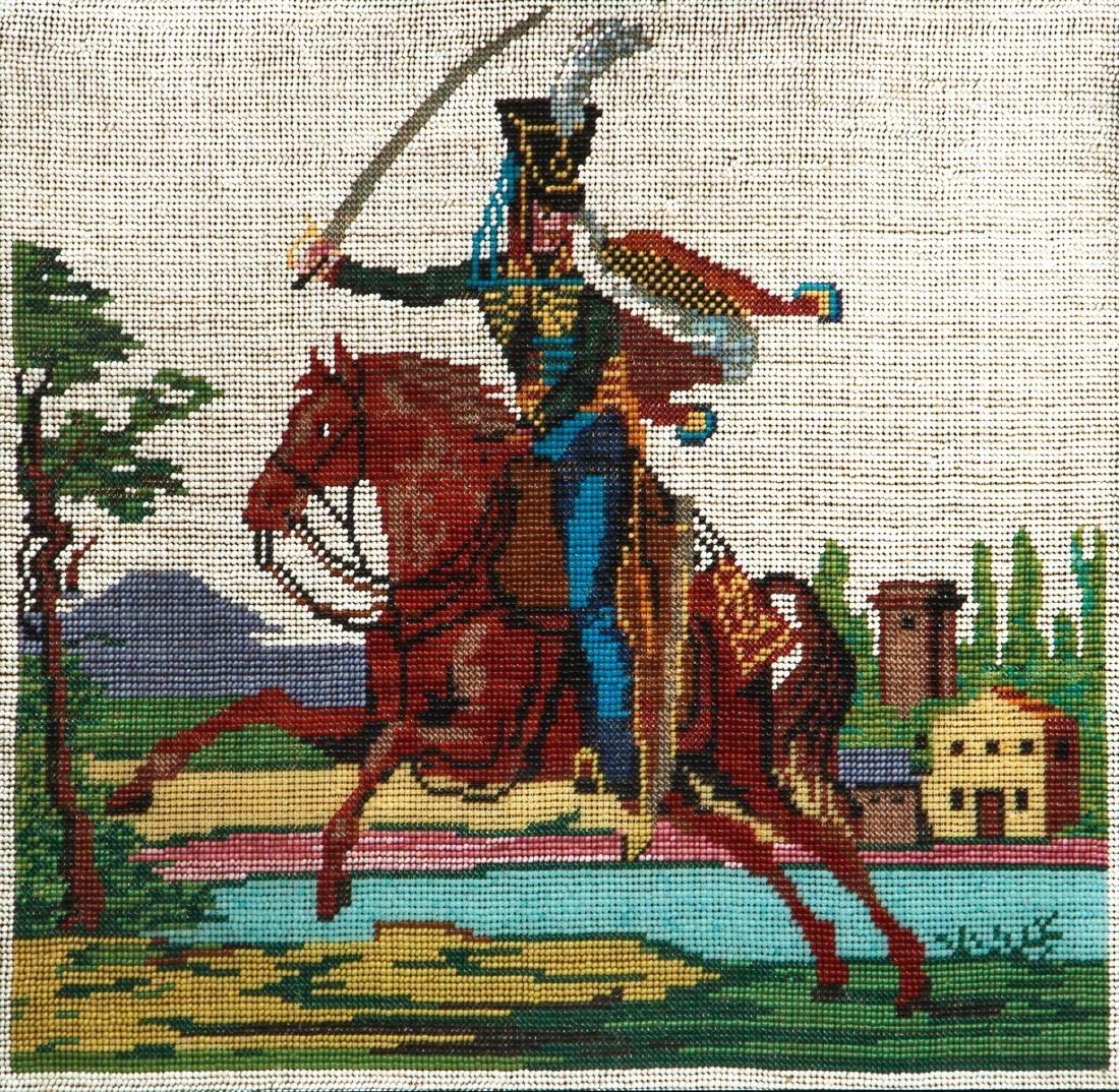 Elaborate Beaded Depiction of a Hessian Soldier