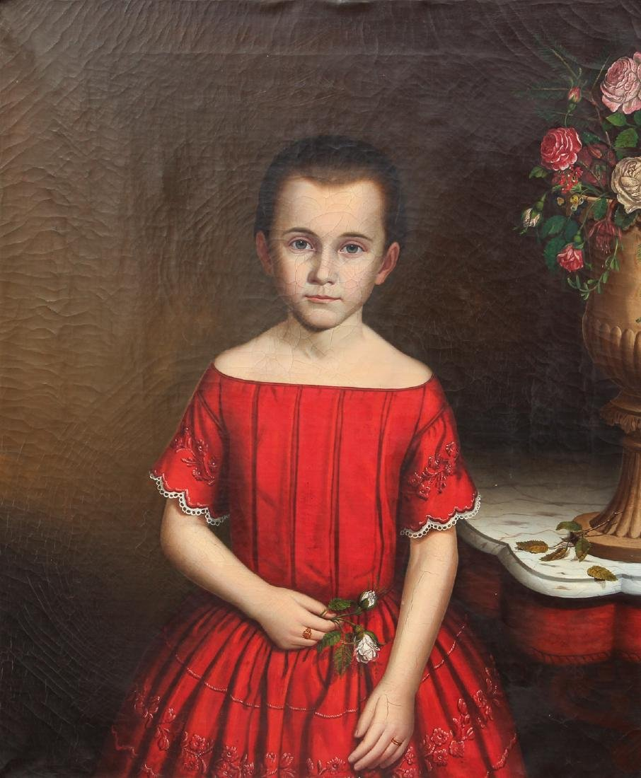 Early American Portrait of A Young Girl
