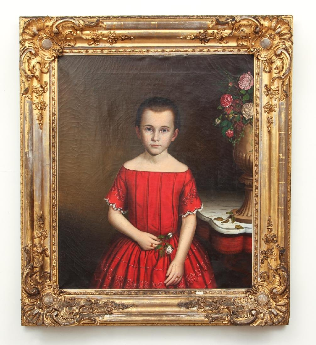 Early American Portrait of A Young Girl - 2