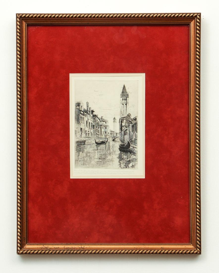 John Taylor Arms Venice Canal Scene Etching - 2