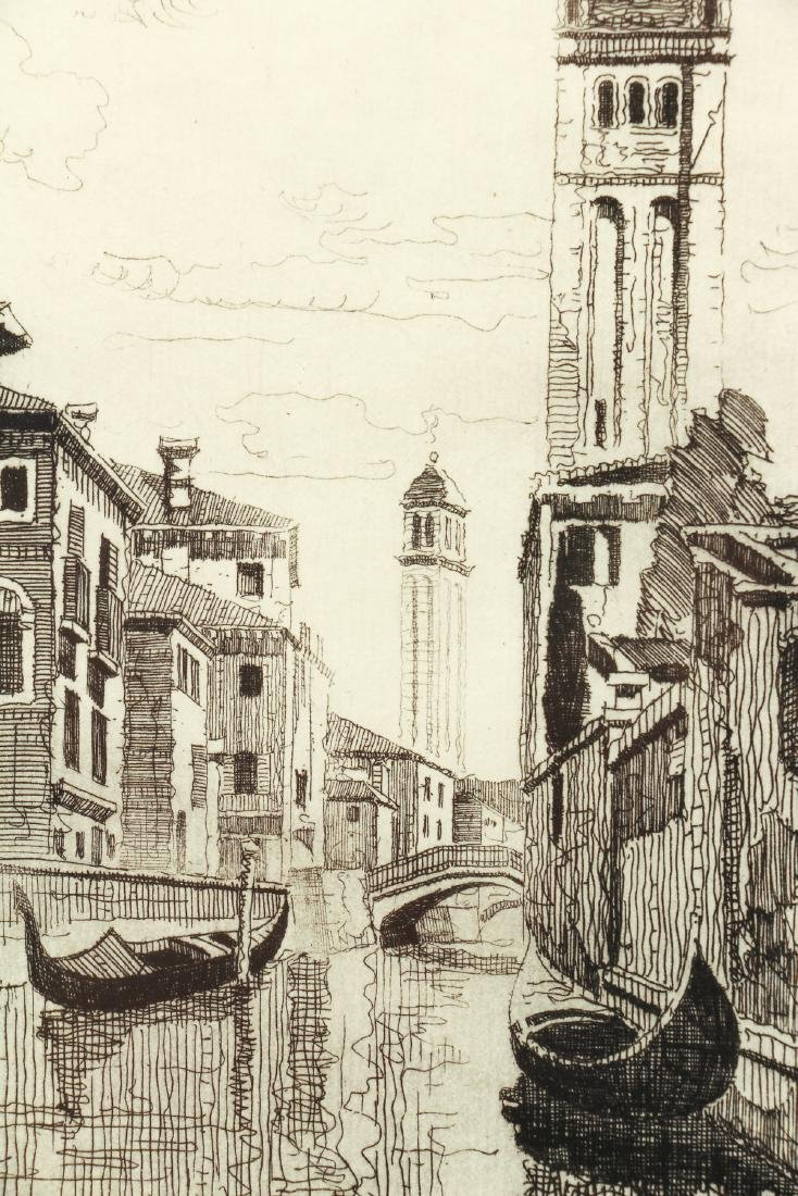 John Taylor Arms Venice Canal Scene Etching - 6