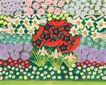 Gideon Cohen casein painting Flora Symphony