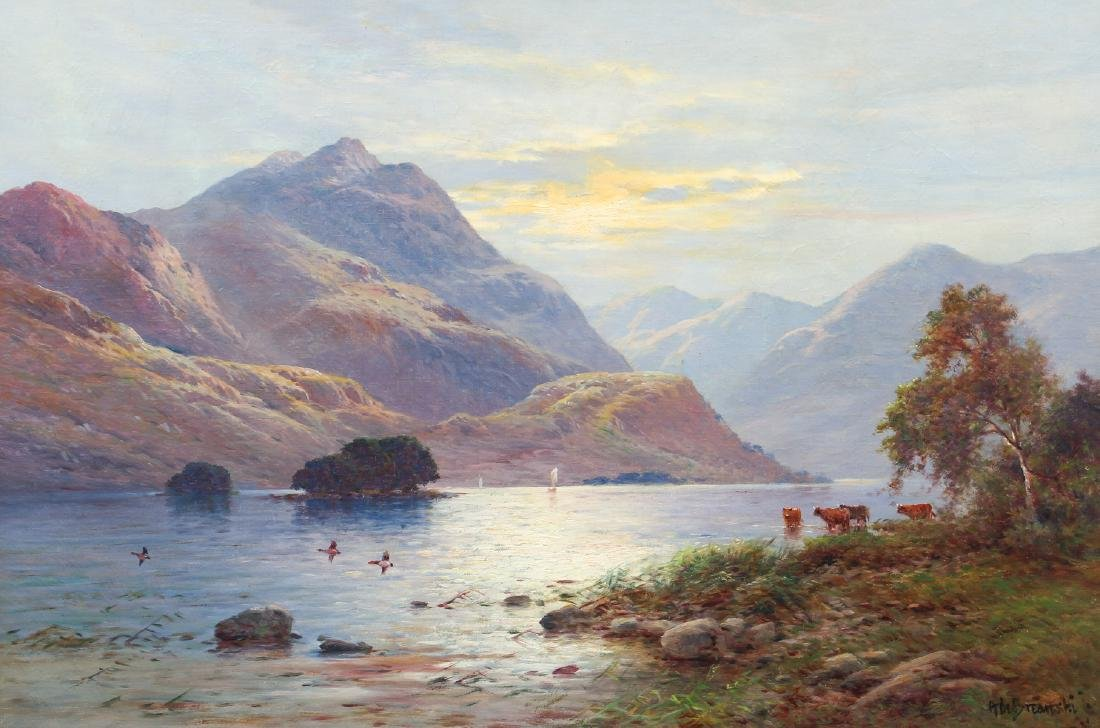 Alfred De Breanski Morning on the Loch Oil Painting