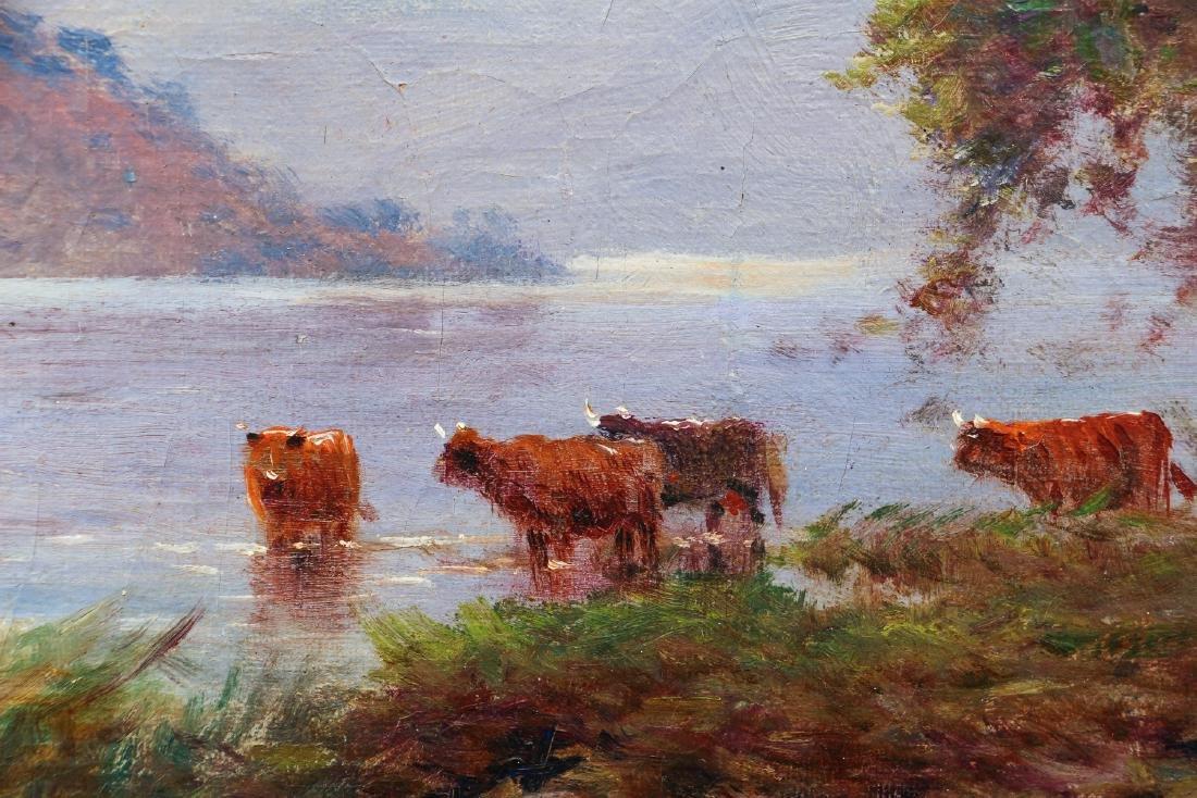 Alfred De Breanski Morning on the Loch Oil Painting - 3