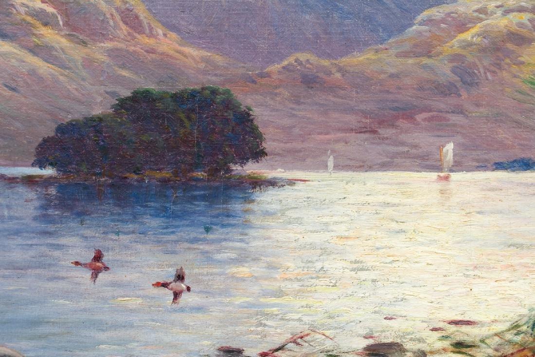 Alfred De Breanski Morning on the Loch Oil Painting - 4