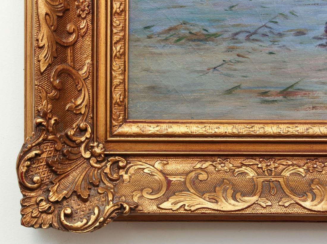 Alfred De Breanski Morning on the Loch Oil Painting - 7