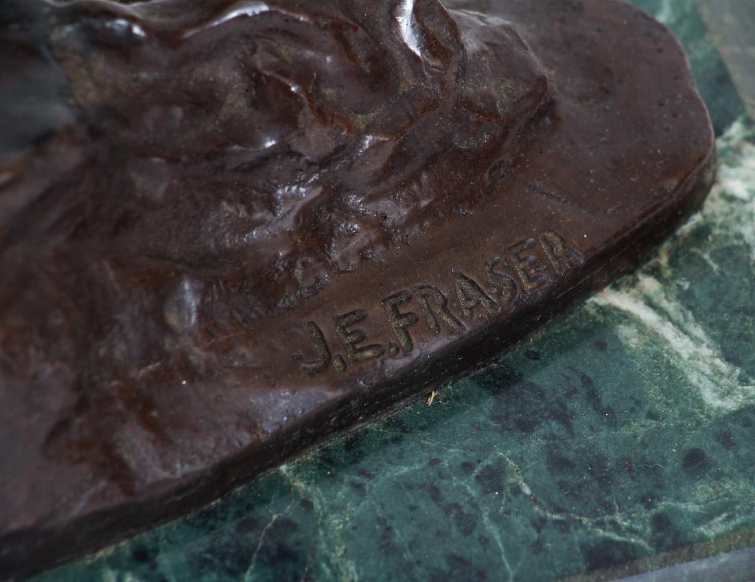 J E Frazer End of the Trail Bronze Recast - 2