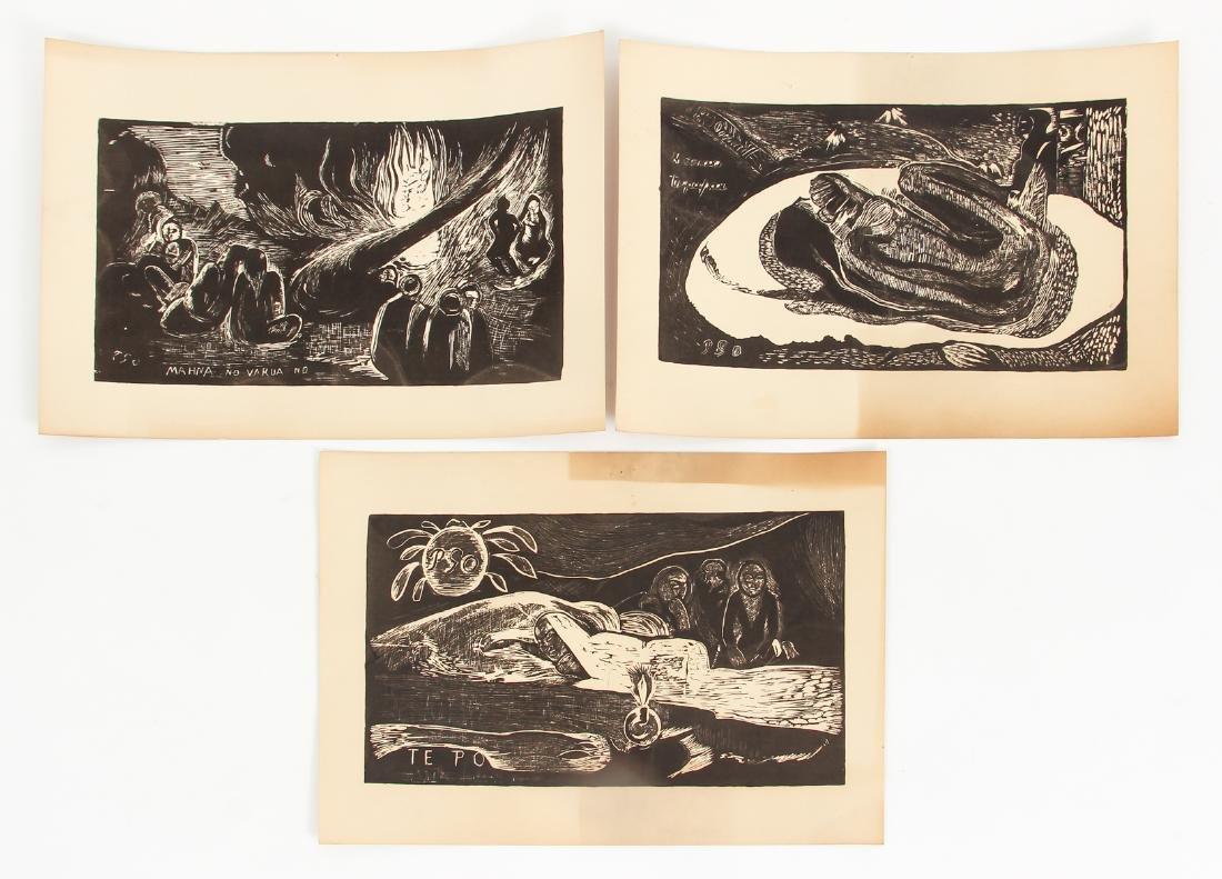 3 Paul Gauguin collotypes from the book Noa Noa