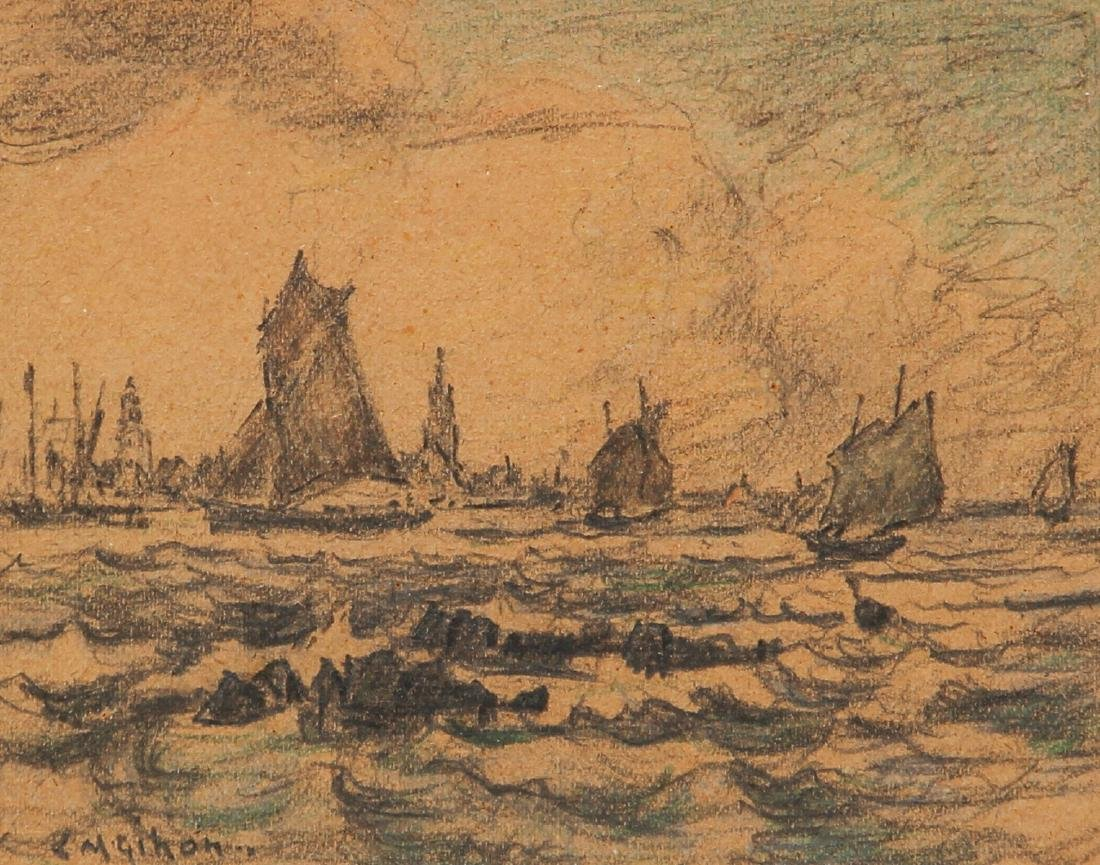 Clarence Gihon Seascape Drawing