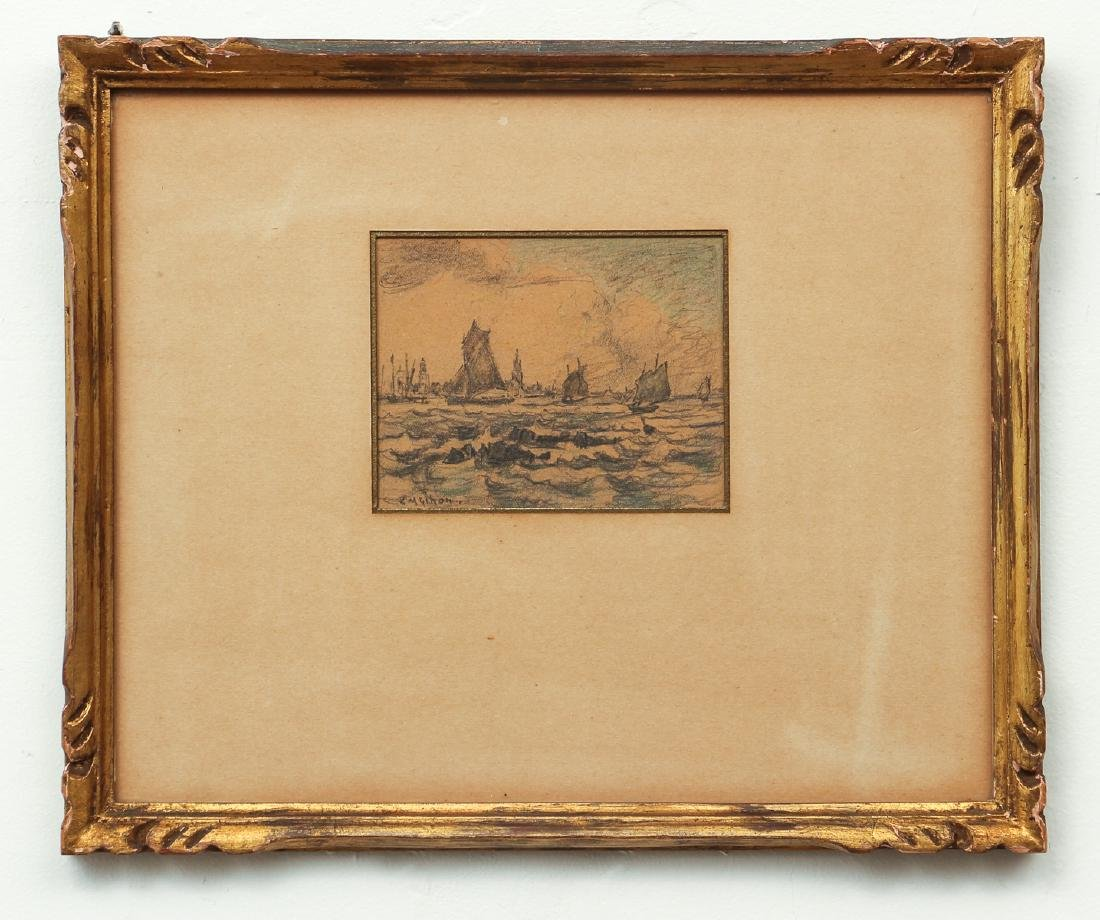 Clarence Gihon Seascape Drawing - 2
