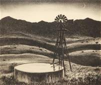 Peter Hurd The Water Tower Lithograph