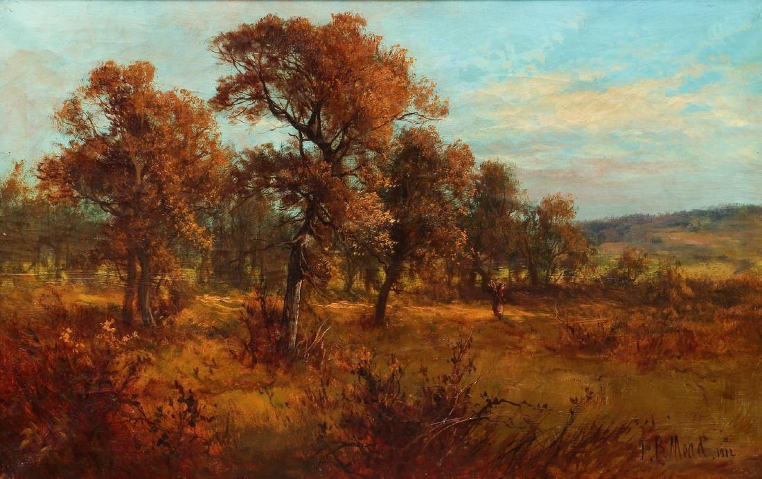 Victorian Landscape Painting of Autumn Scene