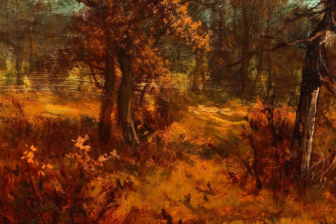 Victorian Landscape Painting of Autumn Scene - 4