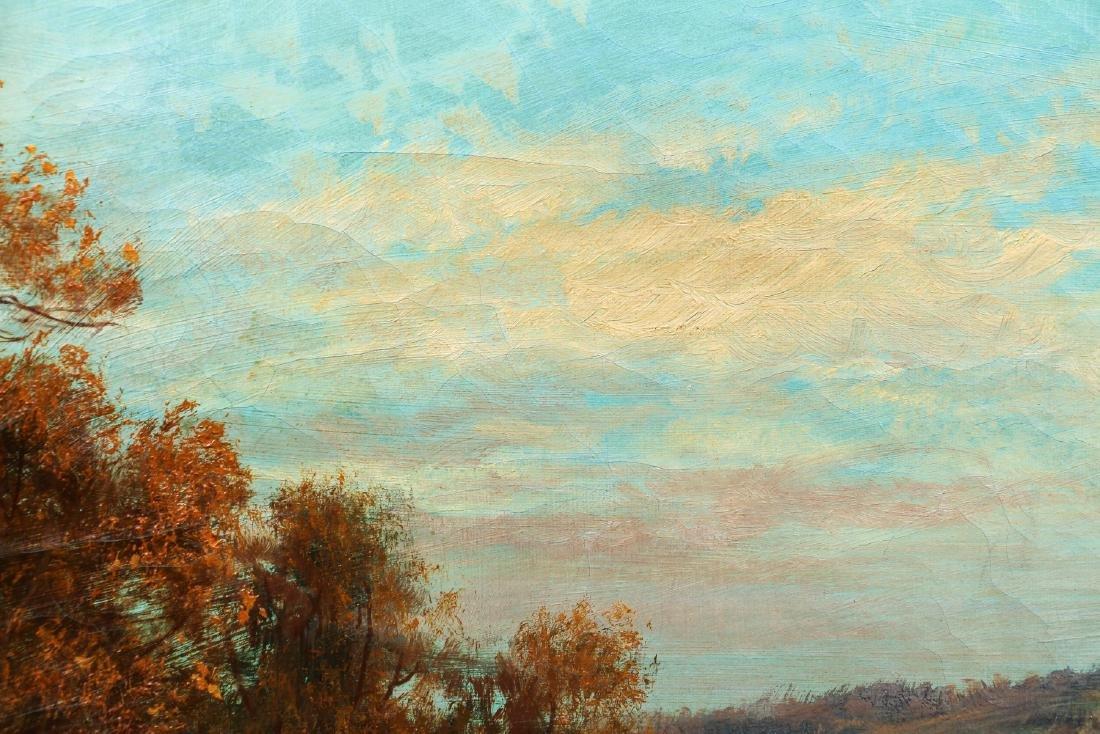 Victorian Landscape Painting of Autumn Scene - 5
