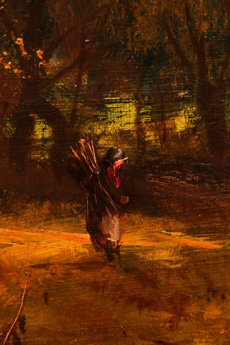 Victorian Landscape Painting of Autumn Scene - 6