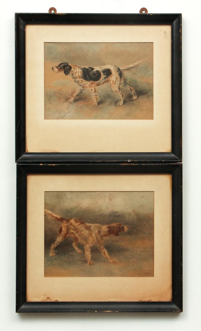 Two Edmund Osthaus Pointer Watercolors