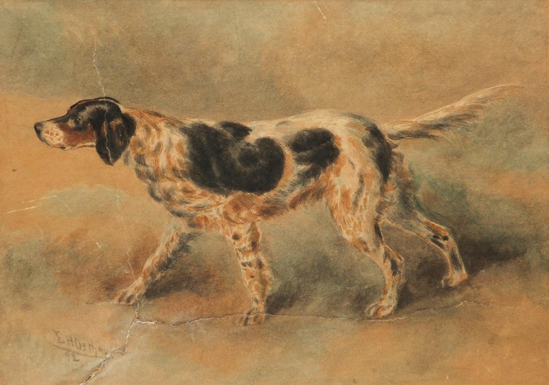 Two Edmund Osthaus Pointer Watercolors - 2