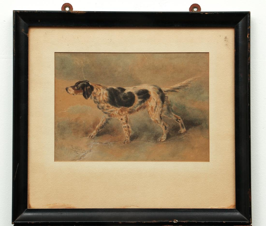 Two Edmund Osthaus Pointer Watercolors - 3