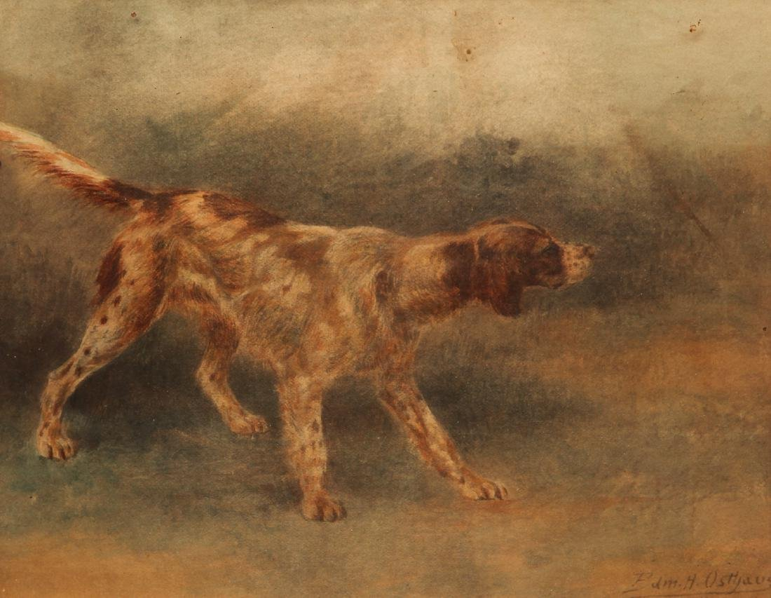 Two Edmund Osthaus Pointer Watercolors - 7