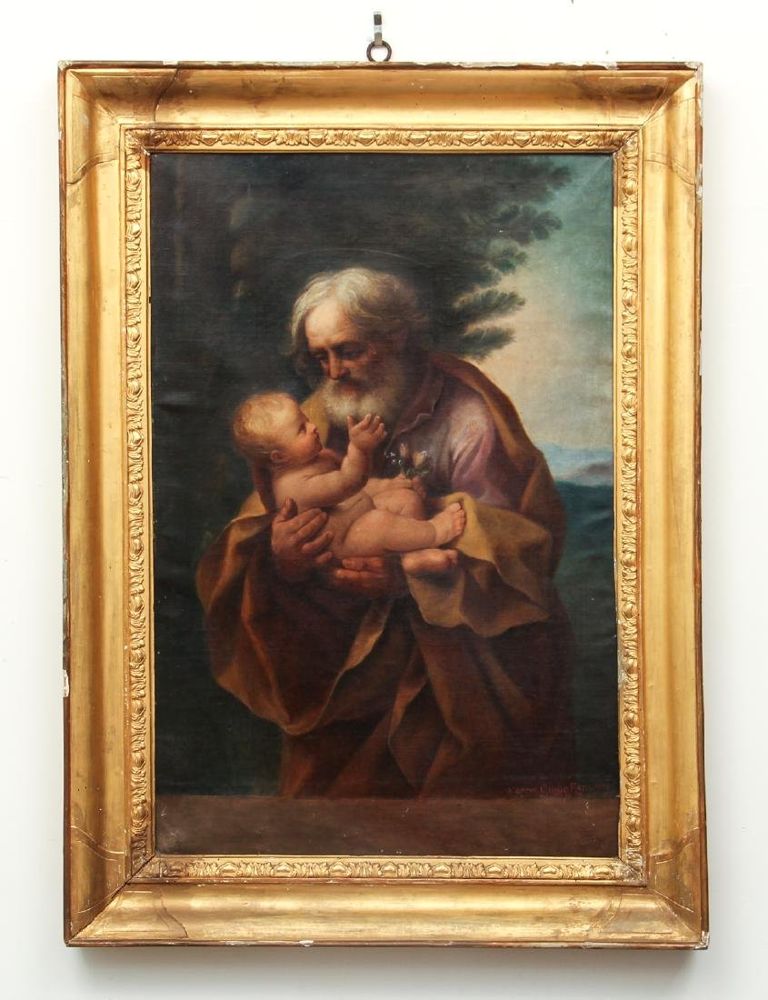 Old Master Copy of Guido Reni St. Joseph and Baby Jesus - 2
