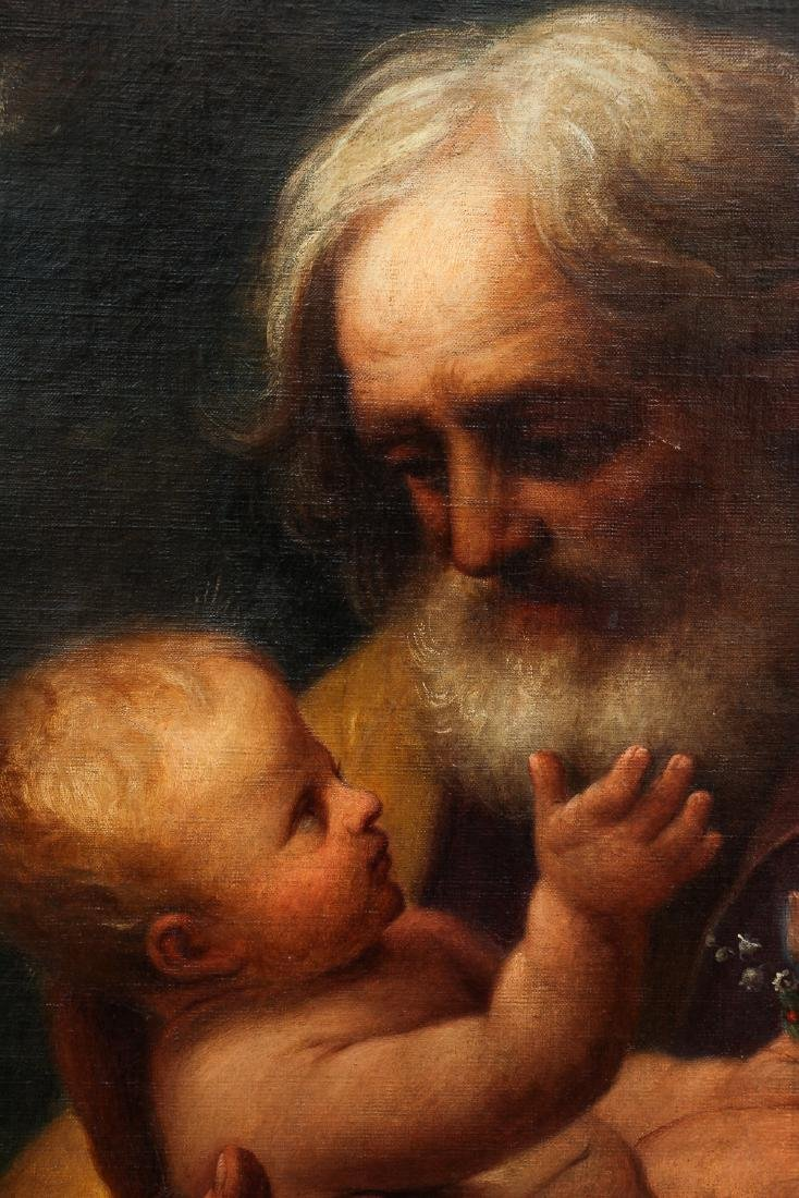 Old Master Copy of Guido Reni St. Joseph and Baby Jesus - 4