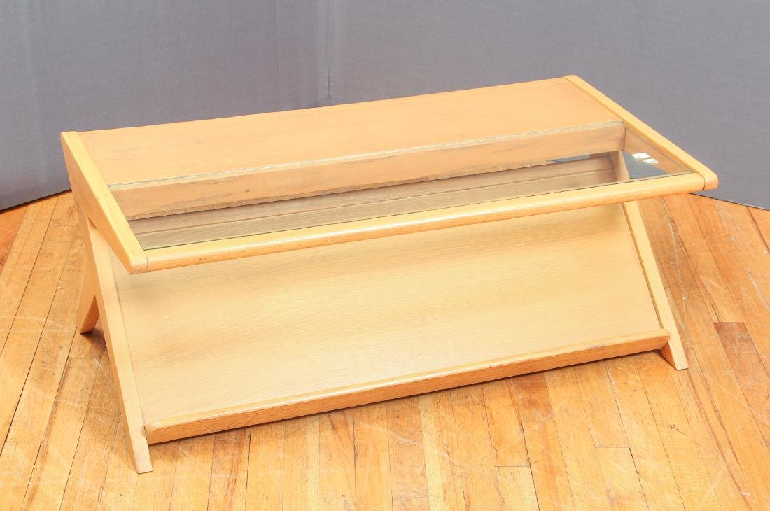 Birch and glass Magazine Coffee Table