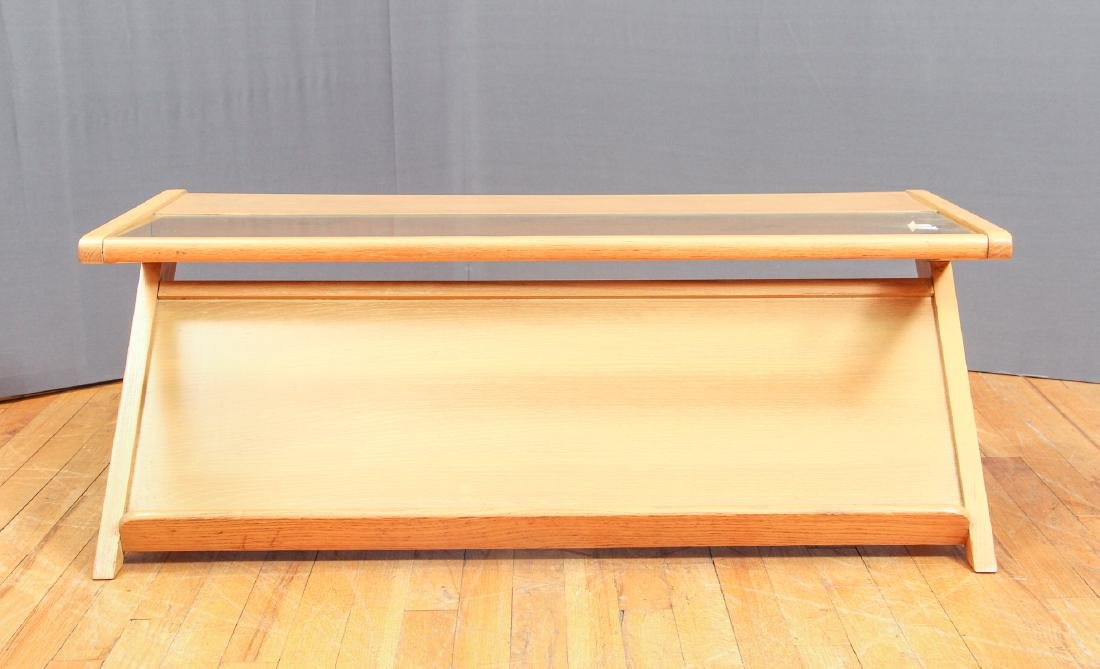 Birch and glass Magazine Coffee Table - 3