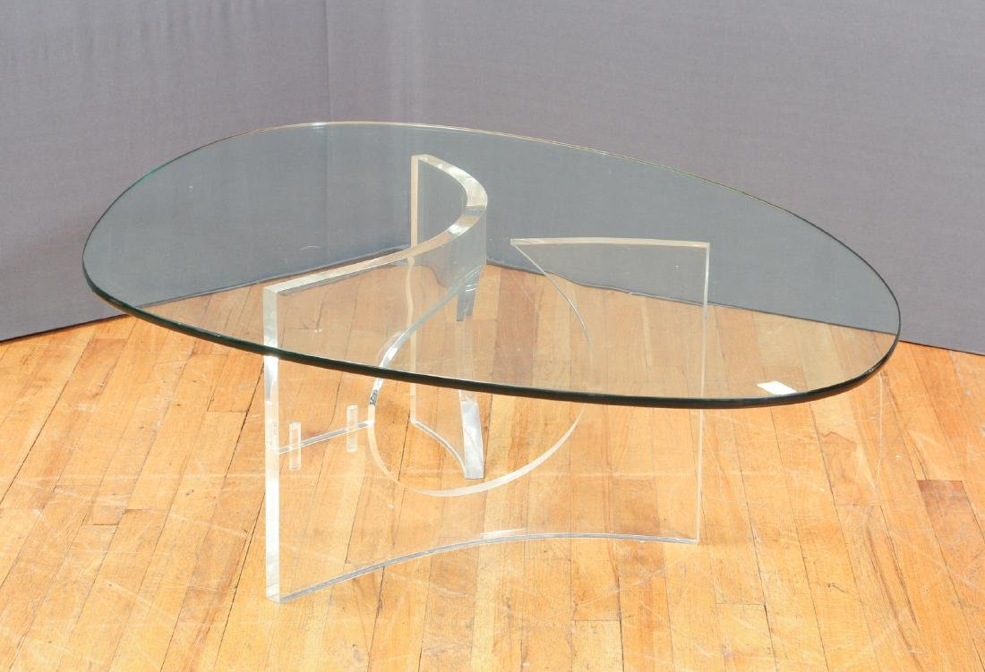 Charles Hollis Jones  Lucite and Glass Coffee Table - 2