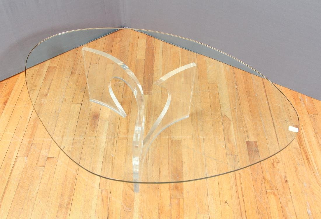 Charles Hollis Jones  Lucite and Glass Coffee Table - 3