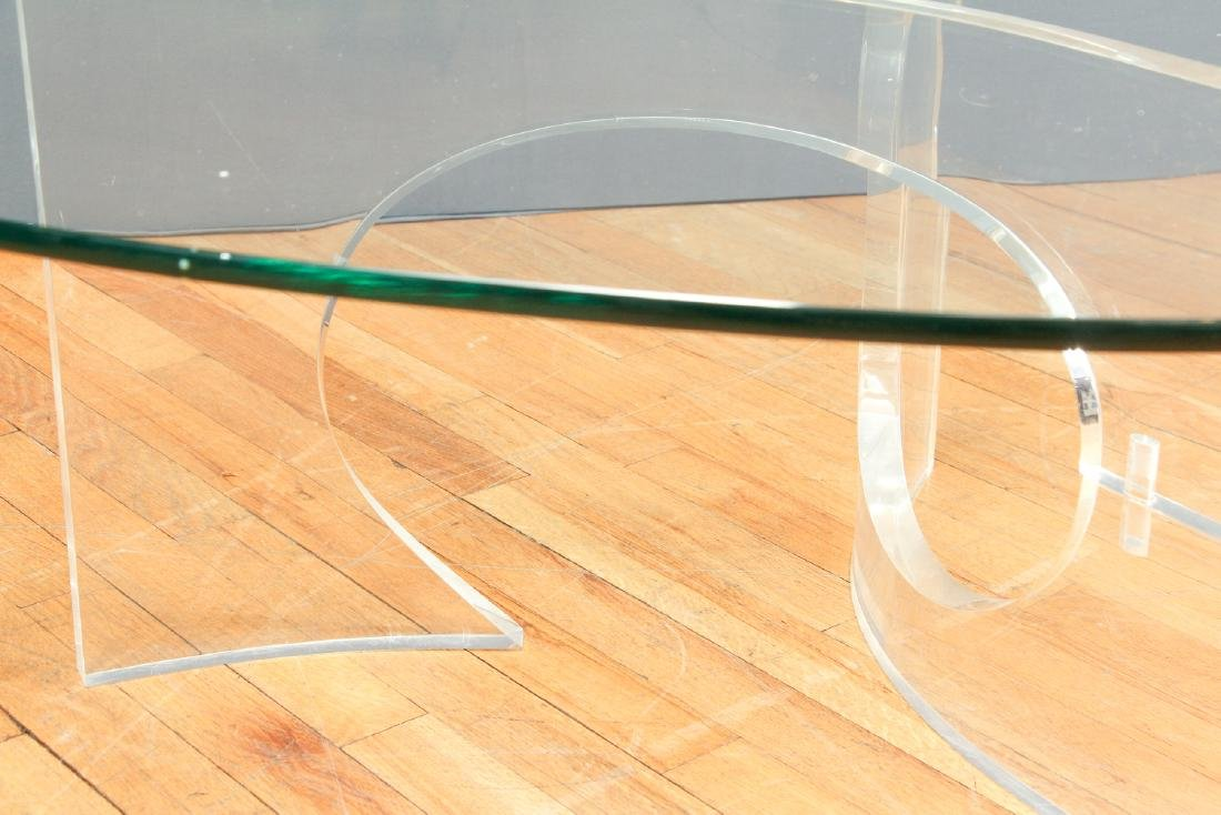 Charles Hollis Jones  Lucite and Glass Coffee Table - 5