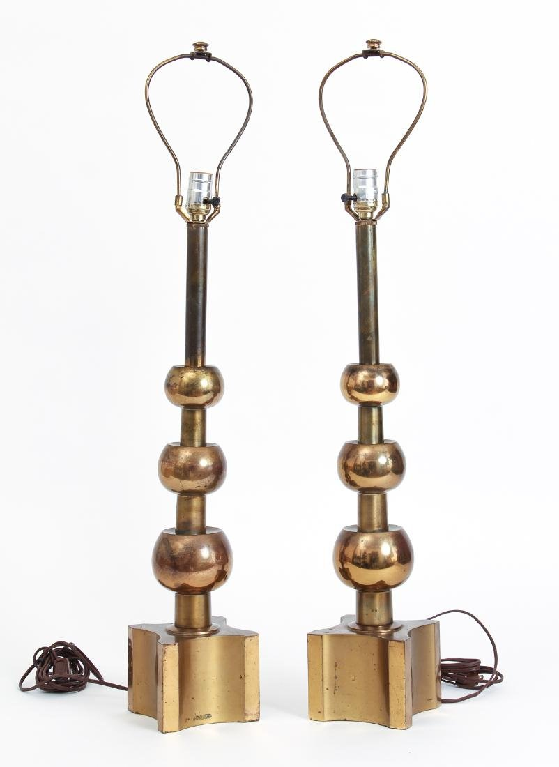 Pair of Tommi Parzinger for Stiffel Mid Century Lamps
